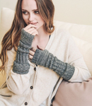 Soft Heather Grey Ribbed Arm Warmers