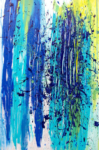 Blue Explosion Triptych