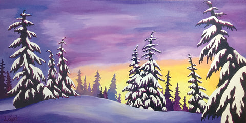 Lavender Snowtrees