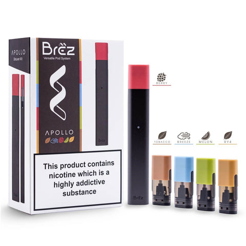 BREZ DELUXE Pod Kit (320mAh Battery with 5 SALT NIC 20mg PODS)