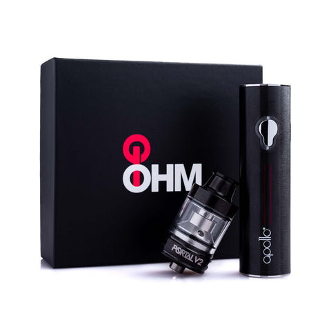2021 VERSION - OHM GO Vaping Kit V2 (50W battery + top filling tank) by Apollo