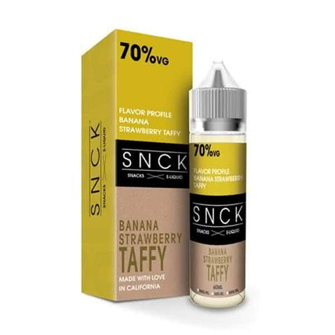 SNCK Banana Strawberry Taffy  Max VG E-Liquid 50ml Short fill