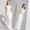 Long White French Elegant Party Dress