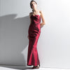 Red Fishtail Long Corset Dress