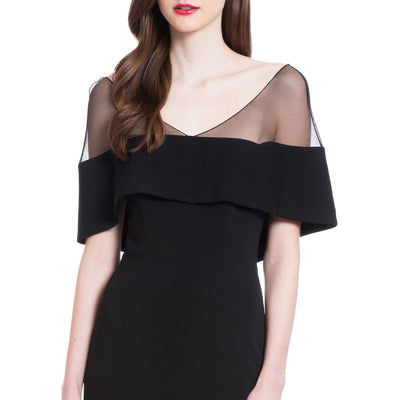 Black Long-Cut Evening Dress Dress Slimmed Down In A Slender Shoulder Dress