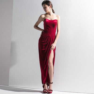 Retro Dress Red Long Party Dress