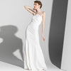 White Long Back Leakage Sexy Evening Dress