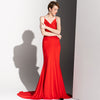 Long Wine Wed Strap Sexy Leakage Back Temperament Party Dress