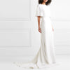 White Long Simple Slim Tail Evening Dress