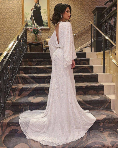 Customize Beautiful Specialize Shining Sexy Evening Prom Dress Dying Colorful Gown Sleeveless White
