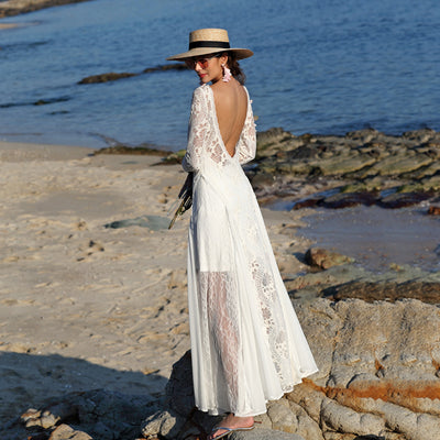 Seaside Holiday Lace Dress