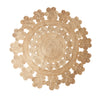Decorative Round Jute Rug - 150cm Diameter- Style A - Greige - Home & Garden - Chiswick, London W4