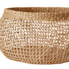 Set of Three Round Openweave Seagrass Baskets