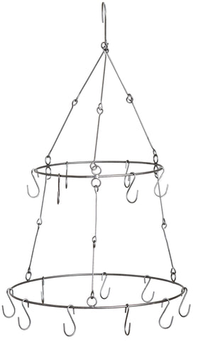 hanging herb or flower dryer with 15 hooks