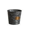 zinc plant pot ribbed edge