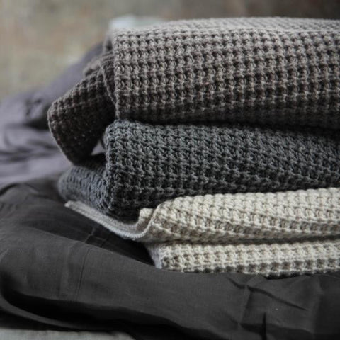 Cosy Lambswool Throw - 3 Colours - Greige - Home & Garden - Chiswick, London W4