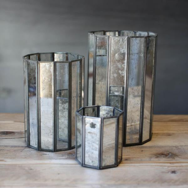 Mirrored Glass Tealight Holders And Lanterns