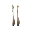 Twiggy Brass Butter Knife - Set of Two - Greige - Home & Garden - Chiswick, London W4