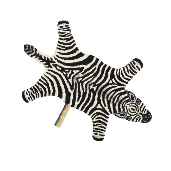 Chubby Zebra Rug - Tapis Amis Collection from Doing Goods - Greige - Home & Garden - Chiswick, London W4