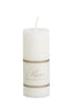 Pure Stearin Pillar Candles - White - 40mm Diameter