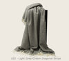 Luxurious 100% Scandinavian Wool Throw - Knee Blanket, 85x130cm - Greige - Home & Garden - Chiswick, London W4