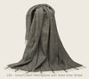 Luxurious 100% Scandinavian Wool Throw - Large, 140x240cm - Greige - Home & Garden - Chiswick, London W4