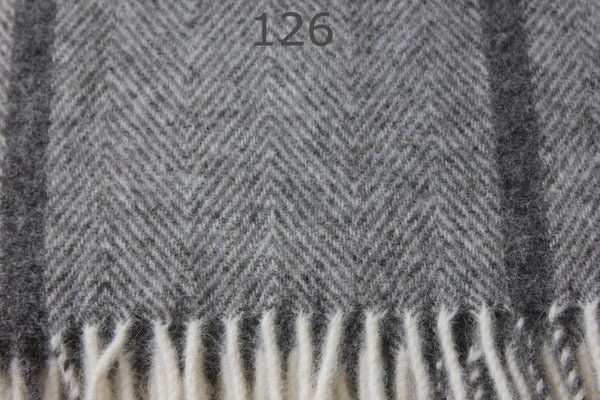 Luxurious 100% Scandinavian Wool Throw - Extra Large, 220x260cm - Greige - Home & Garden - Chiswick, London W4