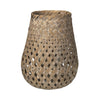Broste Bamboo Basky Lantern - Two Sizes - Greige - Home & Garden - Chiswick, London W4