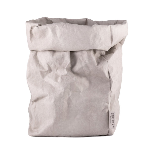 XXL Washable Paper Bag from Italy - Light Grey - Greige - Home & Garden - Chiswick, London W4