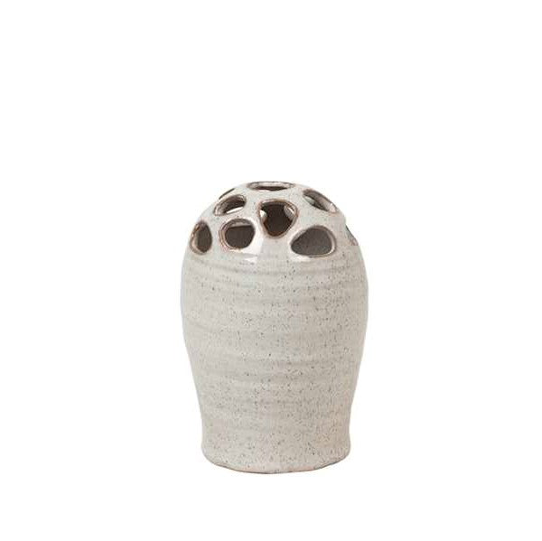 Broste Copenhagen Axell Vase Stoneware with holes for buds