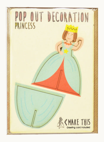 Pop Out Card Decoration Princess