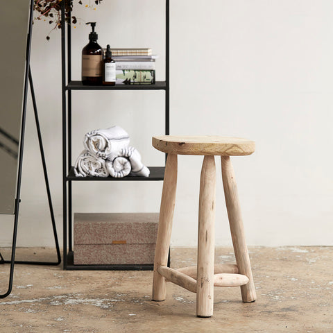 Natural wooden stool
