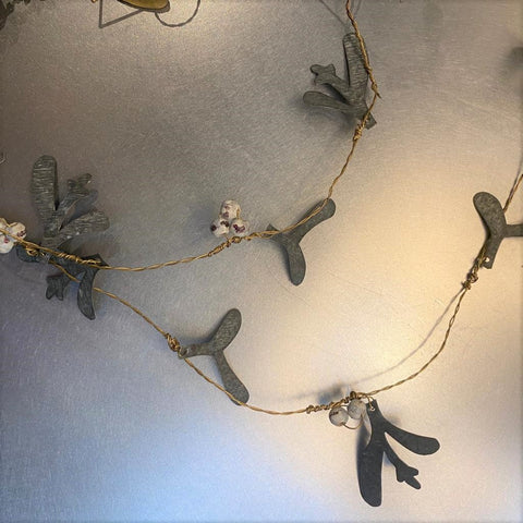 Mistletoe Garland Brass and Zinc Walther & Co Denmark