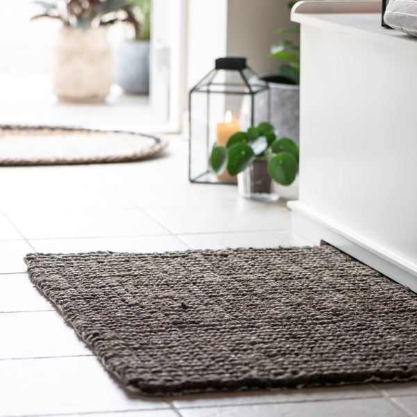 Jute Doormat with Rubber Backing - Greige - Home & Garden - Chiswick, London W4