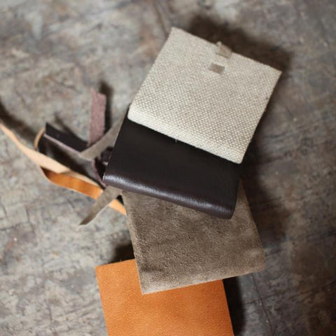 Tiny Linen or Suede Journals