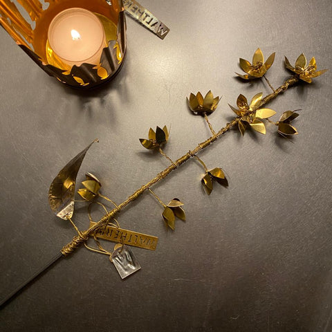 Long gold flower stem Walther & Co Denmark