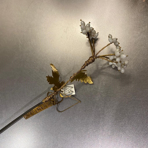 Tall White Bead Flower Stem Walther & Co Denmark