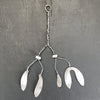 Metal Mistletoe Sprig - Two Sizes - Greige - Home & Garden - Chiswick, London W4
