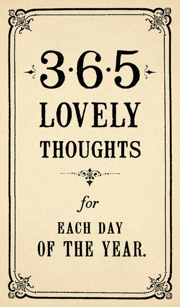 365 Lovely Thoughts Calendar Notebook - Greige - Home & Garden - Chiswick, London W4