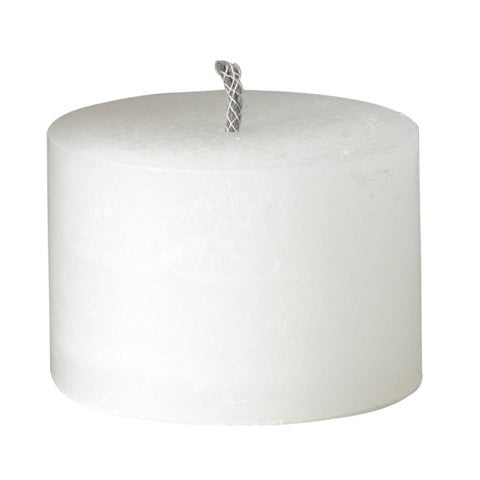 large white outdoor candles