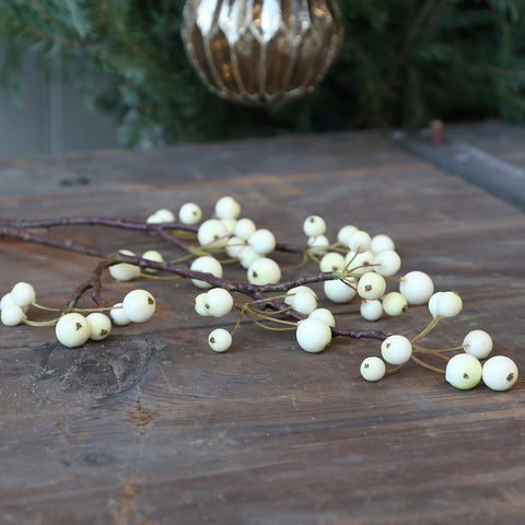 Faux Snowberry Stem