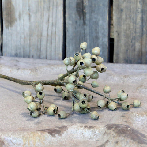 Faux Green Seed Pod Stem