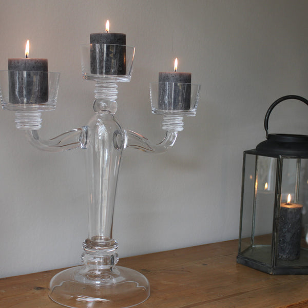 Stunning Clear Glass Candelabra - 3 or 5 Arm - Greige - Home & Garden - Chiswick, London W4