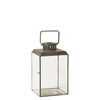 Antiqued Metal Antibes Lantern - Three Sizes - Greige - Home & Garden - Chiswick, London W4