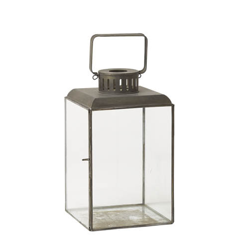 Large Antiqued Metal Antibes Lantern