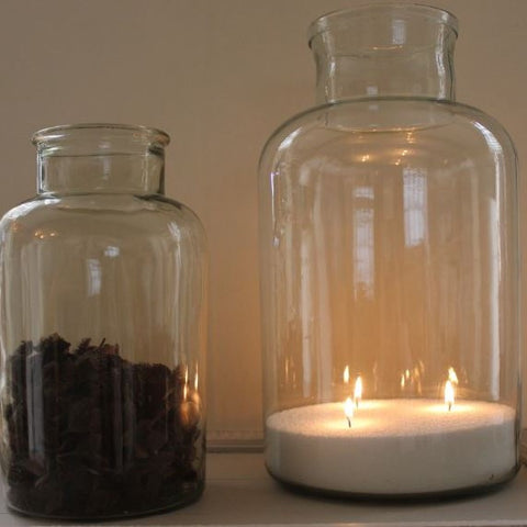 Beautiful Vintage Glass Bottles or Jars - Greige - Home & Garden - Chiswick, London W4