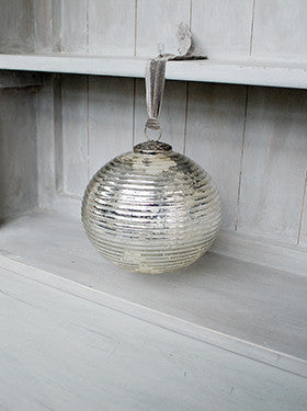 Giant Silver Glass Baubles