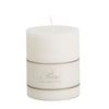 Pure Stearin Pillar Candles - White - 80mm Diameter - Greige - Home & Garden - Chiswick, London W4