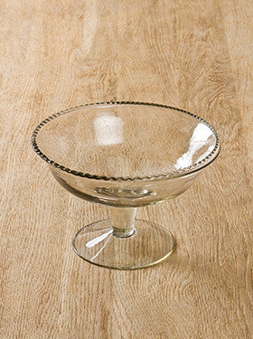 Small Glass Bowl on Stand