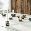 Crimped Brass Candle Holder with Handle - Greige - Home & Garden - Chiswick, London W4